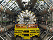 Component Metal Prints - Atlas Detector, Cern Metal Print by David Parker