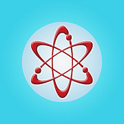 Atom Digital Art - Atom Symbol by Nathan Griffith/Fuse