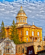 Historic Site Prints - Auburn Courthouse Print by Cheryl Young