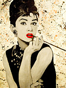 Anthony Jensen Acrylic Prints - Audrey Hepburn Acrylic Print by Anthony Jensen