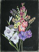 Gladiolas Pastels - August Bouquet by Cheryl Anne Thompson