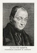 Positivism Posters - Auguste Comte, French Philosopher Poster by Humanities & Social Sciences Librarynew York Public Library