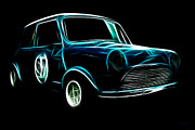 Mini Cooper Digital Art Posters - Austin Cooper Poster by Wingsdomain Art and Photography