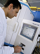 Diagnostics Prints - Automated Blood Bacteria Tests Print by Tek Image