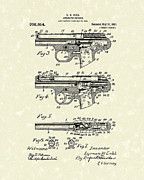 Cobb Drawings Posters - Automatic Firearm 1911 Patent Art Poster by Prior Art Design