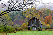 Nicholas County Framed Prints - Autumn Barn Framed Print by Thomas R Fletcher