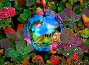 Soap Bubble Prints - Autumn Bubble Print by Marilynne Bull