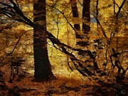 Autumn Landscape Digital Art - Autumn gold by Gun Legler