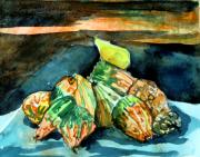 Sunset Drawings Originals - Autumn Gourds  by Mindy Newman