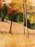 Wheat Pastels - Autumn Hillside by Estelle Schwarz