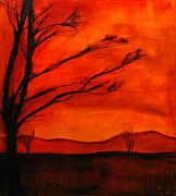 Autumn Landscape Mixed Media - Autumn landscape by Evan Hildebrandt