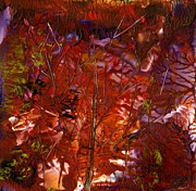 Lit Mixed Media - Autumn Leaves by Tami Lowry