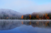 Ditch Framed Prints - Autumn Mist on Lake Framed Print by Thomas R Fletcher