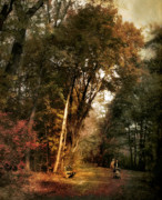 Autumn Landscape Digital Art - Autumn Promenade by Jessica Jenney