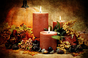 Thanksgiving Art Photos - Autumn Still Life by Stephanie Frey