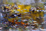 Abstract Water Fall Posters - Autumn Voyage Poster by Ron Jones