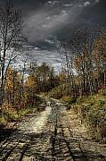 Heather Rivet Art - Autumns Road by Heather  Rivet