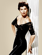 Gold Earrings Acrylic Prints - Ava Gardner, Ca. 1950s Acrylic Print by Everett