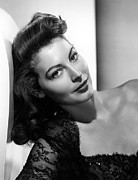 Gardner Framed Prints - Ava Gardner Framed Print by Everett