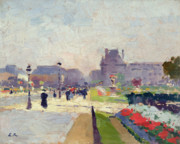 City Flowers Paintings - Avenue Paul Deroulede by Jules Ernest Renoux