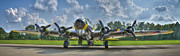 Planes Framed Prints - B-17 Framed Print by Williams-Cairns Photography LLC