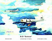 Bomber Painting Framed Prints - B-29 Bockscar Framed Print by Dennis Vebert