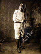 Baseball Bat Photo Framed Prints - Babe Ruth, 1920 Framed Print by Everett