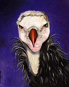 Baby Bird Painting Prints - Baby Vulture Print by Leah Saulnier The Painting Maniac
