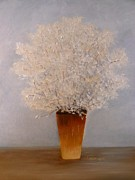 Flower Still Life Prints Prints - Babys Breath Print by Linda Ginn