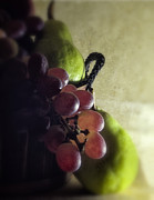 Pear Art Prints - Back lit Grape Still Life Print by Andrew Soundarajan