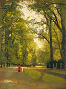 Park Paintings - Backs of the Colleges Cambridge by Cyrus Johnson