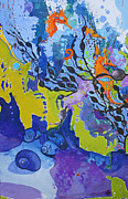 Jane Wilcoxson Art Painting Prints - Backwards Seahorse Print by Jane Wilcoxson