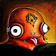 Fantasy Creatures Paintings - Bad Boy Glob by Leanne Wilkes