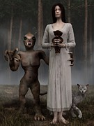 Creepy Digital Art Framed Prints - Bad Influence Framed Print by Daniel Eskridge