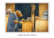 Court Paintings - Badgering The Witness... by Will Bullas