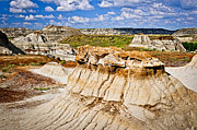 Desert Metal Prints - Badlands in Alberta Metal Print by Elena Elisseeva