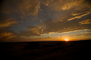 Native American Art - Badlands Sunset by Chris Brewington