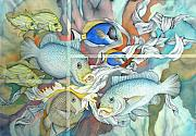 Reef Fish Originals - Bahama mamas by Liduine Bekman