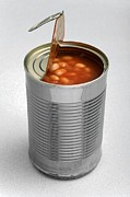 Canned Food Prints - Baked Beans In A Can Print by Victor De Schwanberg