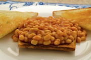 Toast Prints - Baked Beans on Toast Print by Louise Heusinkveld
