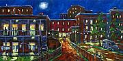 Night-scape Paintings - Balconville by Richard T Pranke