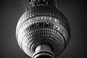 Berlin Germany Photo Posters - ball of the berliner fernsehturm Berlin TV tower symbol of east berlin Germany Poster by Joe Fox