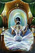 Khatuna Buzzell Metal Prints - Ballerina at mirror Metal Print by Khatuna Buzzell