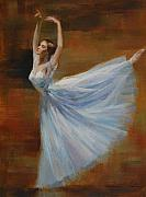 Figuratives Framed Prints - Ballerina Framed Print by Kelvin  Lei