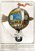 Dijon Framed Prints - Balloon, 1784 Framed Print by Granger