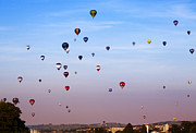 Balloon Fiesta Posters - Balloon Fiesta Poster by Angel  Tarantella