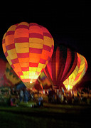 Hot Air Balloon Prints - Balloon Glow 3 Print by Sharon Foster