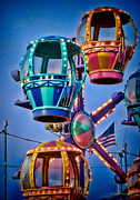 Ferris Wheel Night Photography Framed Prints - Balloon Ride No. 5 Framed Print by Colleen Kammerer