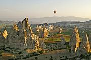 Ballooning Prints - Ballooning in Cappadocia Print by Michele Burgess