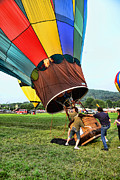 Ballooning Prints - Balloonist - Ready for takeoff Print by Paul Ward